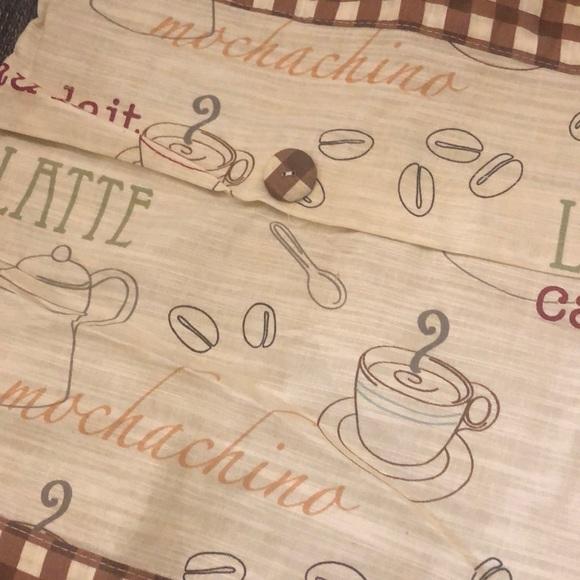 Coffee kitchen curtain
